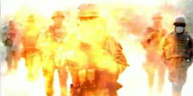 Obama mit Soldaten im Atomfeuer