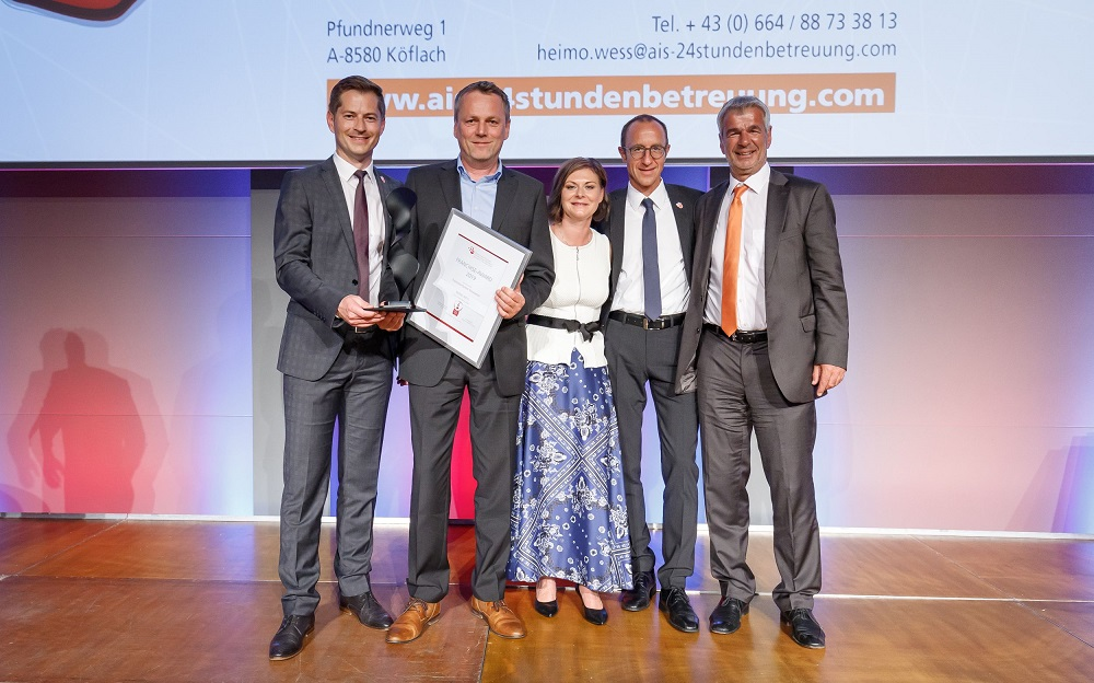 ÖFV Award - Franchise-CH - Gewinner 2019 - Franchise Partner Newcommer - Heimo Wess AIS24Stunden