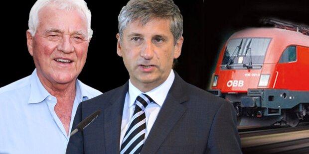 Spindelegger will Stronach ÖBB verkaufen
