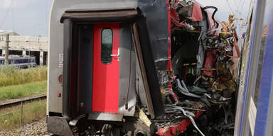 Zug-Unfall in Wien-Floridsdorf: Strecke gesperrt