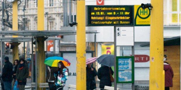 Öffi-Streik, doch Chaos blieb aus