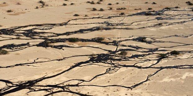 Riesiger Öl-Teppich in Israel
