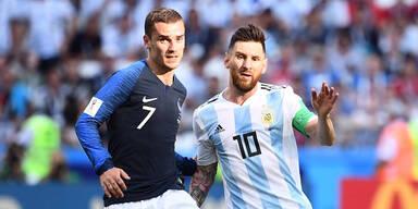 Frankreich kickt Messi im 4:3-Krimi raus