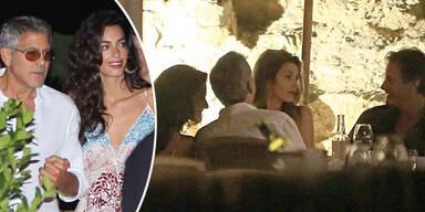 George & Amal Clooney: Auf Ibiza mit Cindy Crawford
