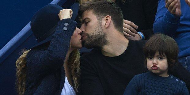 Shakira: Süße Küsse mit Piqué