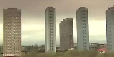 Turmsprengung in den Red Roads in Glasgow