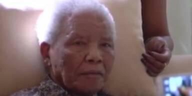 Nelson Mandela feiert seinen Geburtstag