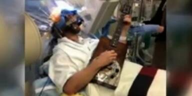Patient spielt während Gehirn-OP auf der Gitarre