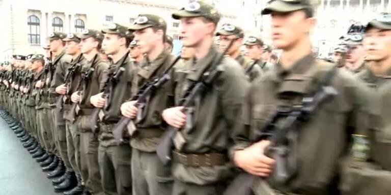 Angelobung der Soldaten am Heldenplatz