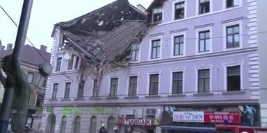 Explosion: Wiener Wohnhaus eingestürzt