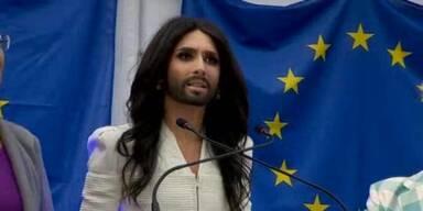 Conchitas Auftritt in Brüssel