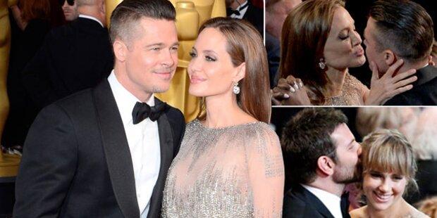 Brad & Angelina turteln bei den Oscars