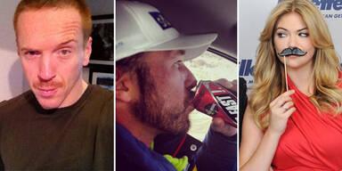 Movember: Stars mit Schnauzer für Charity