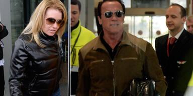 Arnold Schwarzenegger am Weg nach Kitzbühel