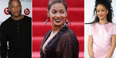 Rihanna, Beyonce, Dr. Dre