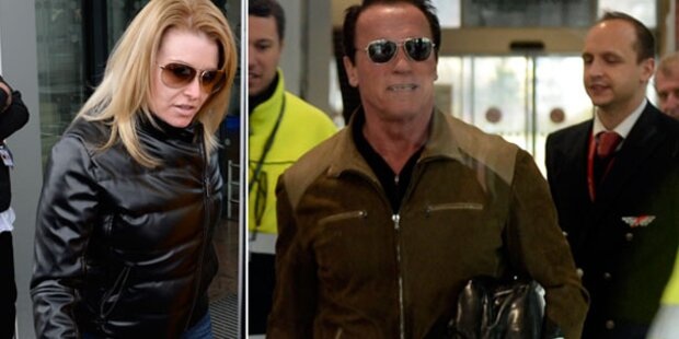 Arnold Schwarzenegger in Innsbruck gelandet