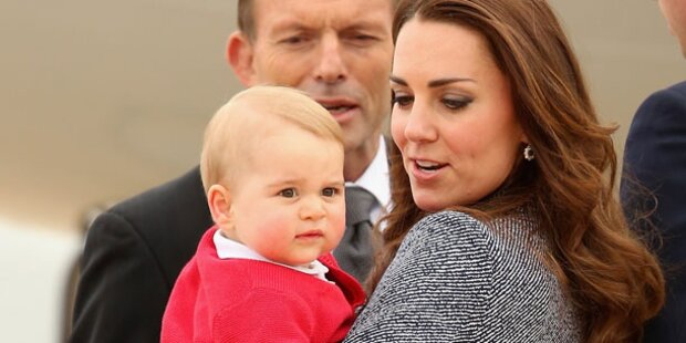 Prinz George schleckte