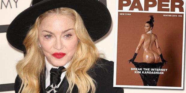 Madonna: Verwirrt von Kim Kardashians Po