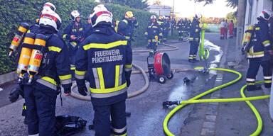 Brandgefahr in einer Sauna in Perchtoldsdorf
