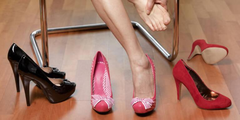 Weg mit High Heels, her mit flachen Schuhen