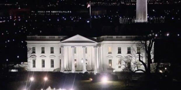Rauchbombe: Weißes Haus geschlossen