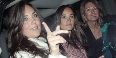 Kate Middleton mit Schwester Pippa und Mutter Carole
