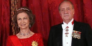 Königin Sofia und König Juan Carlos von Spanien