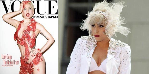Schocker: Lady Gaga in Fleisch gehüllt