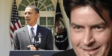 Barack Obama, Charlie Sheen