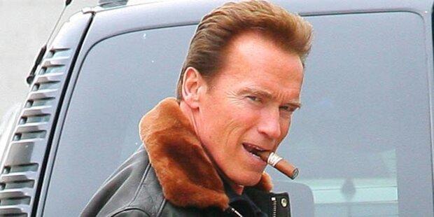 Arnie: Anzeige, weil er geraucht hat
