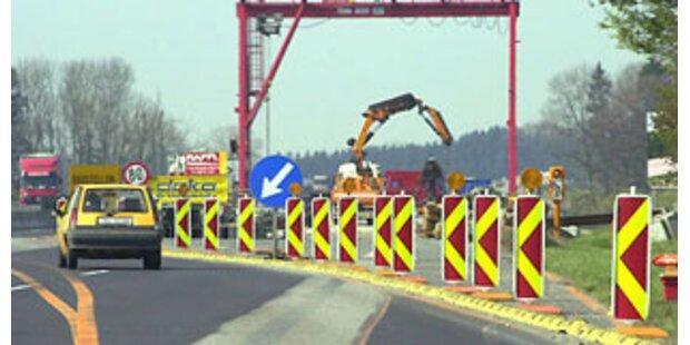 Autofahrer raste mit 180 km/h über Baustelle