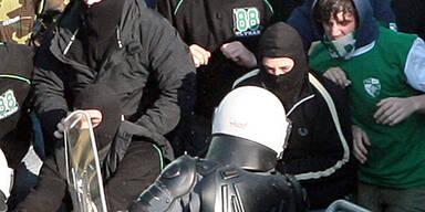 Hooligans randalierten in Graz