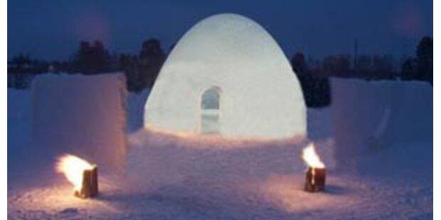 Ein Dorf aus Eis und Schnee