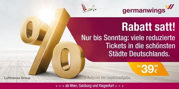German Wings Anzeige