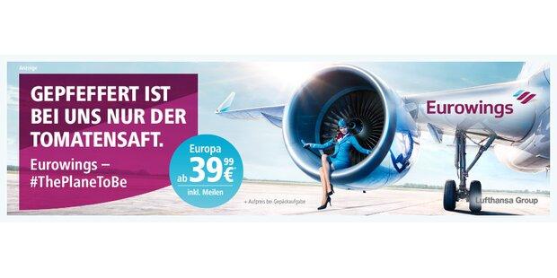Anzeige Eurowings Wetter