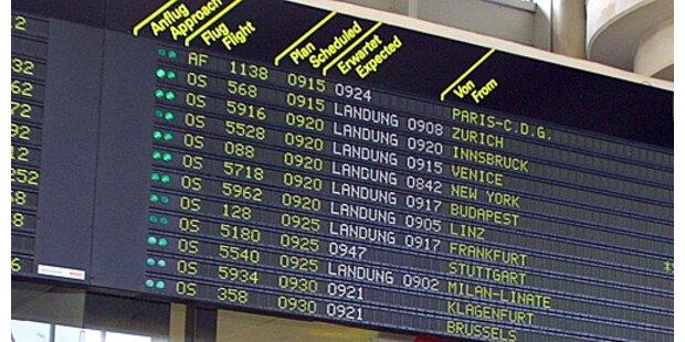 Flughafen Wien auf Platz drei bei Pünktlichkeit