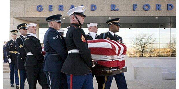 Ehemaliger US-Präsident Ford beigesetzt