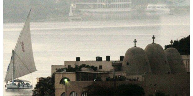 Vier Kreuzfahrtschiffe blieben im Nil stecken
