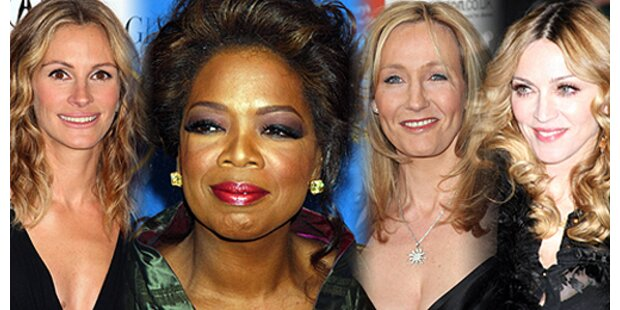Die reichsten Frauen des Showbiz