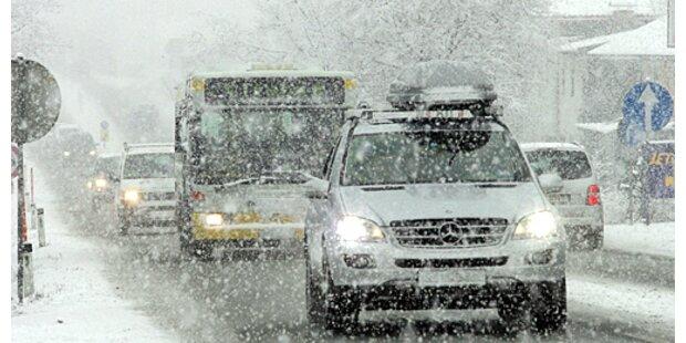 Verspäteter Wintereinbruch in Österreich