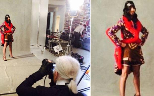 Conchita posiert für Karl Lagerfeld