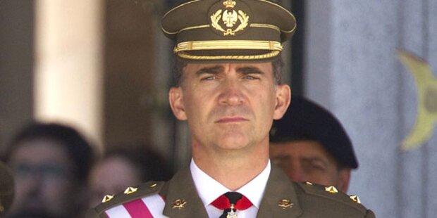 Felipe wird am 18. Juni König von Spanien