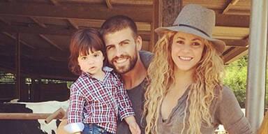 Shakira & Pique mit Sohn Milan