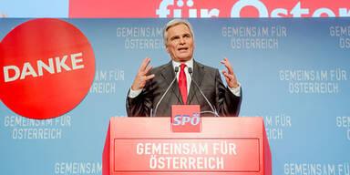 Wahlparty der SPÖ in Wien
