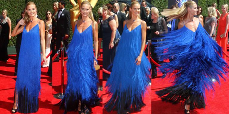 Heidi Klum als blauer Wirbelwind