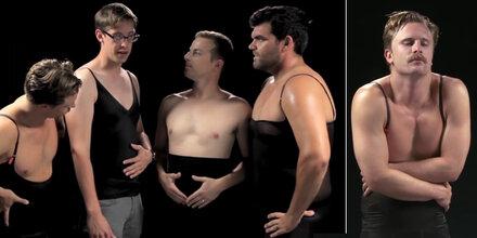 Männer probieren Spanx