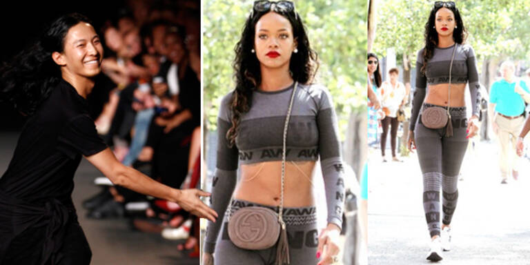 Rihanna trägt Alexander Wang x H&M