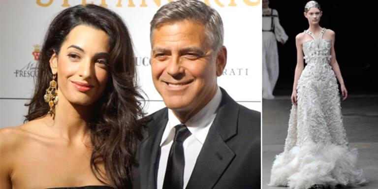 Heiratet Amal in Alexander McQueen?