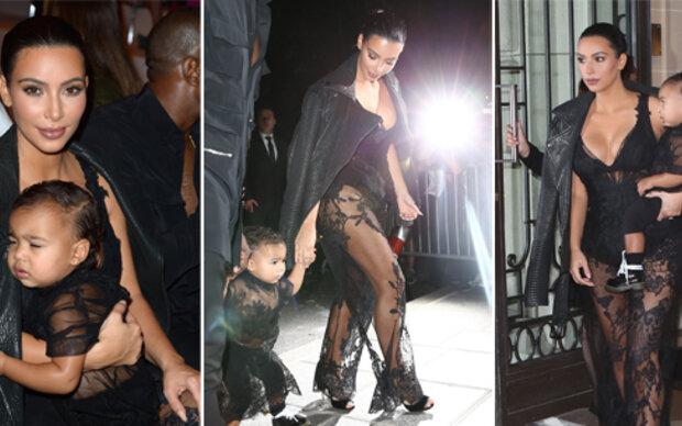 Kim und Nori im Givenchy-Partnerlook