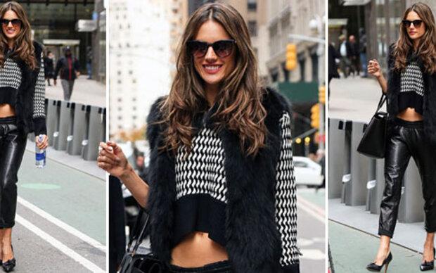 Alessandra zeigt sich stylish in Jogginglederhose